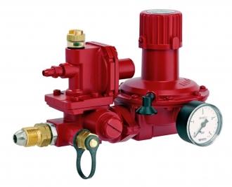 Регулятор давления газа GOK VSR 013, 60кг/ч, 0.7–2 бар, ПЗК, ПСК с манометром