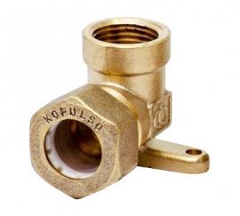 Отвод с креплением Kofulso BL15AW для воды ВР 15×½″